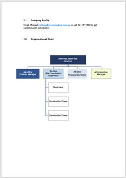 Company Profile/Org Chart
